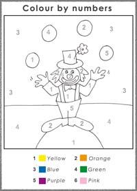 Color by addition worksheets kindergarten